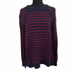 Vineyard Vines Break Stripe Lattice Sweater XL